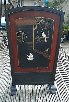 Antique Oriental Screen/firescreen