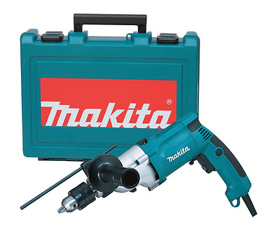 New makita corded hammer drill, 6.6 Amp 3/4 in, case, power tool.