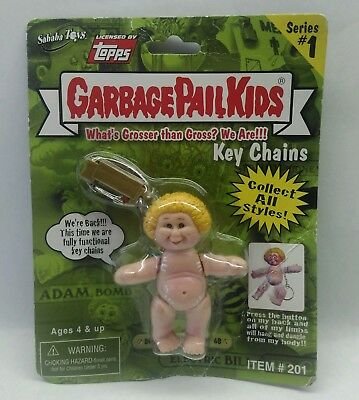 GARBAGE PAIL KIDS GPK Series 1 Keychain Busted Bob #6 B, New/Sealed Package 2001
