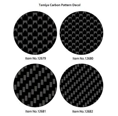 Tamiya Carbon Pattern Decal (130x190mm) For 1/12 1/24 Scale Model Car Motorcycle