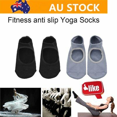 1 pair of Anti-slip Yoga Socks Anti-skid Breathable Fitness Pilates Men Wom So I