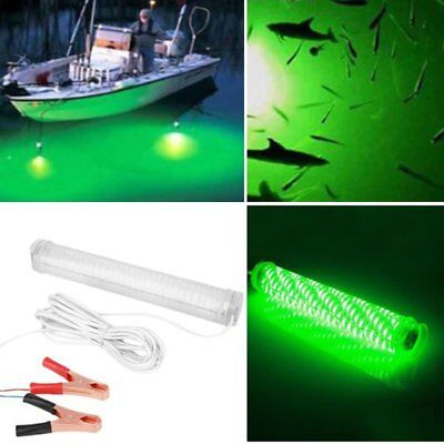 12V LED GREEN UNDERWATER SUBMERSIBLE NIGHT FISHING LIGHT crappie squid boat  I5