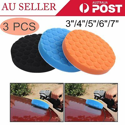 3PCS Car Polishing Wash Brush Buffer Pad Buffing Sponge Polishing Pad Kit Set I5