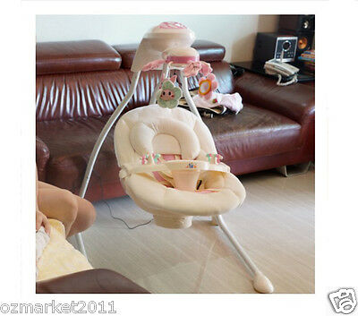 European Security Pink Comfortable Baby Swing Chair/Baby Electric Rocking Chair