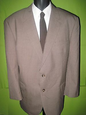 "48R brown hounds tooth 2 button ""JoS A Bank"" 100% wool suit 40W x 30L"