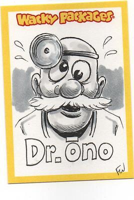 2013 Topps Wacky Packages ANS 11 Dr. Ono Sketch 1/1 Wheaton
