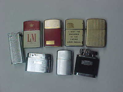 LOT of VINTAGE LIGHTERS AS IS FOR PARTS ROYALITE , ROGER'S ,STORM KING , PRINCE
