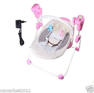 Security Pink Multi-Function Baby Music Swing Chair/Automatic Rocking Chair