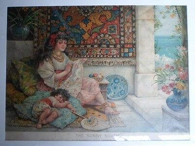 Large Original Pears Advertising Orientalist  Print Picture Vintage Poster