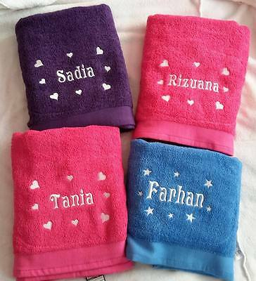 Personalised Embroidered Towels *Unique Gift* ALL SIZE *Ideal for Holidays*