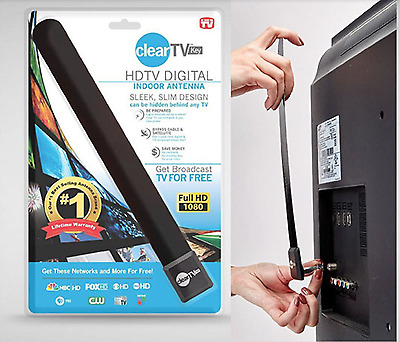 As Seen on TV Clear TV Key HDTV FREE TV Digital Indoor Antenna Ditch Cable