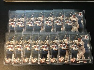 2017 Bowman Aaron Judge 15 Card Rookie RC Lot Yankees Great Investment