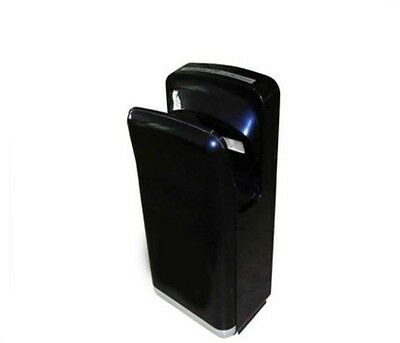 New Black Automatic Induction Double Quick Drying Jet Blade Hand Dryer Machine