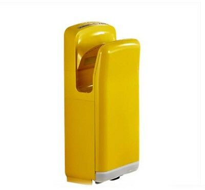 New Yellow Wall Mounted Automatic Induction Double Jet Blade Hand Dryer Machine