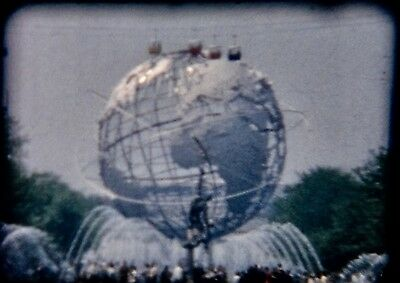 8mm Color Home Movie  FILM 1964 NY WORLDS FAIR & More  #41