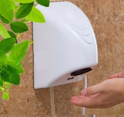 New White Plastic Bathroom Wall Mounted Automatic Induction Hand Dryer Machine