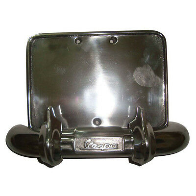 Alloy Number Plate Holder And Rear Bumper Fits Vespa Many Models