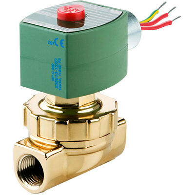 "NEW ASCO 8220G027-120VAC 2-Way 1-1/4"" Hot Water/Steam Brass N/C Solenoid Valve"