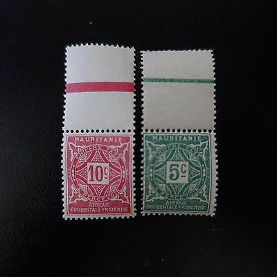 France Colonie Mauritanie Timbre Taxe N°17/18 Neuf ** Luxe Mnh