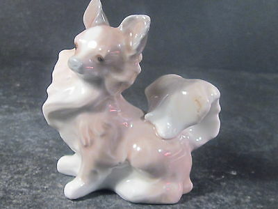 "Lladro #4749 SMALL DOG Papillon Puppy  3  "" Glazed  Retired 1985"
