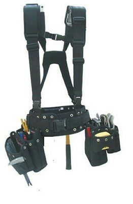 """NEW"" CARPENTER, CONTRACTOR TOOL BELT w/HARNESS, XL(43-50 waist) Journeyman Line"