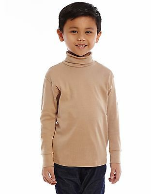 Leveret Solid Turtleneck 100% Cotton (2-14 Years) Variety of Colors