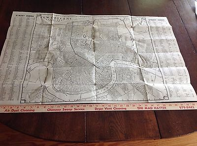 A 1940's City Map of New Orleans