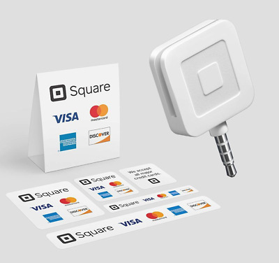 Square Mobile Credit Card Reader White *With Sticker Decals*