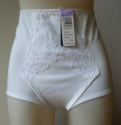 Vintage Olga brief style  panty girdle sz L NEW