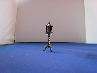 Collectible Silver Miniature Street Lamp