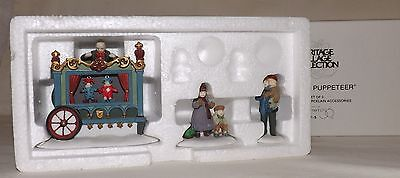 Department 56 Dickens Christmas Village - The Old Puppeteer 3pc Set MIB 58025
