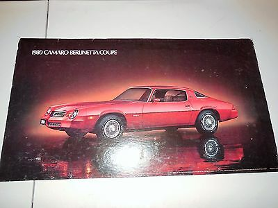 1980 Camaro Berlinetta Coupe Original Dealer Showroom Poster!!!