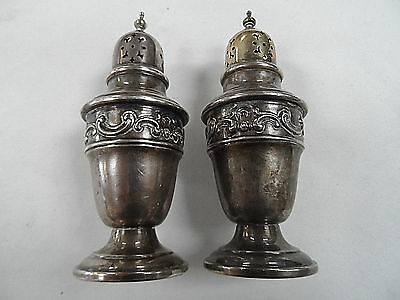 Antique Gorham Sterling Silver Salt and Pepper Shakers