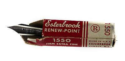 Vtg New Esterbrook Solid Duracrome Renew Point 1550 Firm Extra Fine