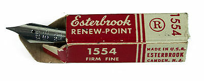 Vtg New Esterbrook Solid Duracrome Renew Point 1554 Firm Fine