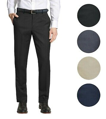 Mens Belted Slim Fit Dress Pants Flat Front Multiple Colors Mens Trousers
