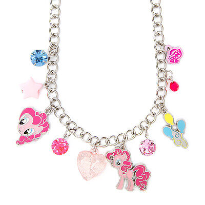 My Little Pony Pinkie Pie Charm Necklace Hasbro Balloons Pink Hearts NWT