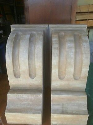 Pair of Large Wooden Corbels Shabby Chic Cottage Look