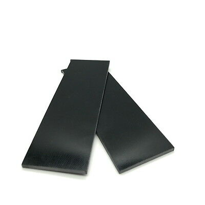 "G10 Slabs- Knife Handle Scales or Liners 1/8"" x 1.5"" x 4.7"" BLACK DF"