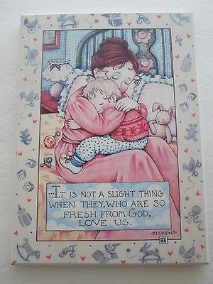 MARY ENGELBREIT COLORPLAK PLAQUE FRESH FROM GOD LOVE US mother child 6X8