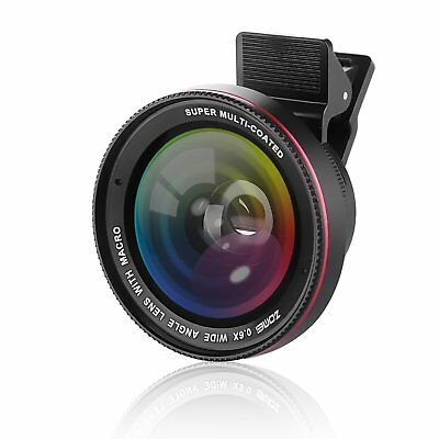 ZOMEi 0.6x Super Wide Angle 10x Super Macro Lens Kit for iPhone Android Phone