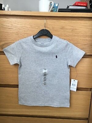 Bnwt Ralph  Lauren  Boys Grey T-Shirt  Aged 4 Years
