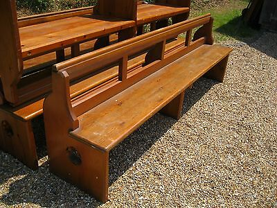 CHURCH PEW / BENCH. Delivery poss. ALSO CHAPEL CHAIRS & ANTIQUE PINE FURNITURE.