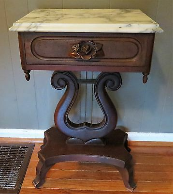 Victorian Marble Top  End/Side Table
