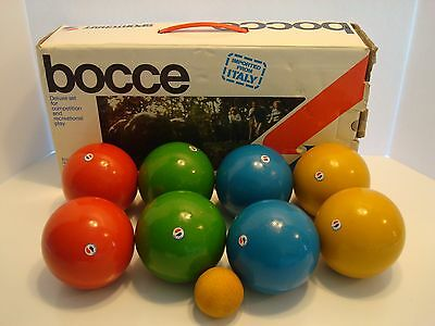 VINTAGE Sportcraft Bocce Ball Set #01087 MADE IN ITALY