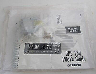 Garmin GPS 150 Owners Manual Pilots Guide & Tray Connector kit P/N 011-00125-00