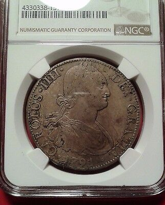 1791 Mexico 8 reales ngc xf40