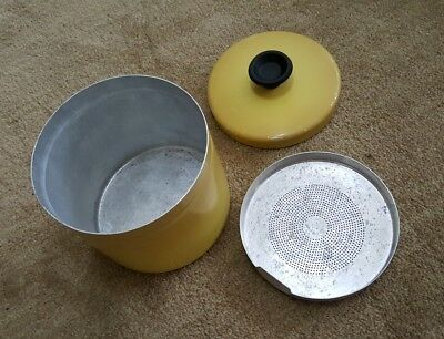 Vintage 1970's Grease Can for your Retro Kitchen Harvest Gold