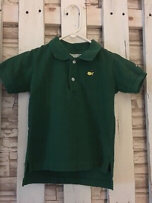 Toddler Boy's Masters Golf Polo Size 3T, Green, Short-sleeved EUC