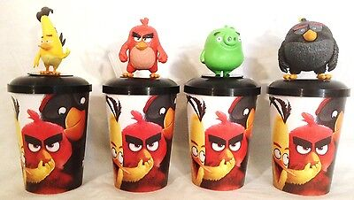 Angry Birds Movie Theater Exclusive Cup Topper Set